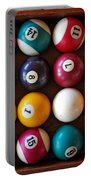 Snooker Balls Portable Battery Charger by Carlos Caetano
