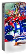 Snow And Graffiti Portable Battery Charger
