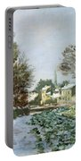 Snow At Argenteuil Portable Battery Charger by Claude Monet