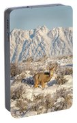 Snow-buck In Wyoming Portable Battery Charger