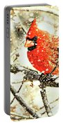 Snow Cardinal Portable Battery Charger