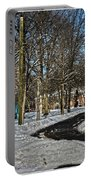 Snow Cleared Road Portable Battery Charger