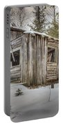 Snow Covered Abandon Cabin Portable Battery Charger