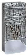 Snow Covered Pony Bridge Portable Battery Charger