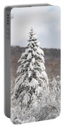 Snow Covered Spruce Portable Battery Charger