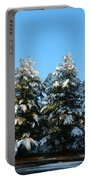 Snow Covered Trees Portable Battery Charger