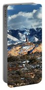 Snow Covered Utah Mountain Range Portable Battery Charger