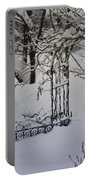 Snow Covered Wisteria Arch Portable Battery Charger