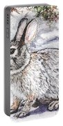 Snow Day Bunny Portable Battery Charger