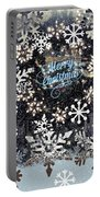 Snow Flakery Wreath 1 Portable Battery Charger
