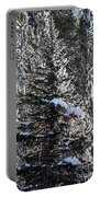 Snow Flocked Pines One Portable Battery Charger
