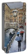 Snow Flurry In Venice Portable Battery Charger