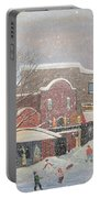 Snow For The Holidays Painting Portable Battery Charger