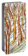 Snow Forest #1 Portable Battery Charger