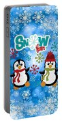 Snow Fun Penguins Portable Battery Charger