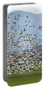 Snow Geese Exodus Portable Battery Charger