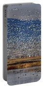 Snow Geese Landing Portable Battery Charger