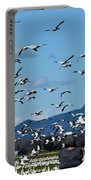 Snow Geese Rising Portable Battery Charger