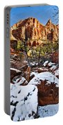 Snow In The Canyons Portable Battery Charger