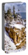 Snow In The Park Acadia Maine Portable Battery Charger