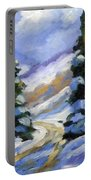 Snow Laden Pines Portable Battery Charger