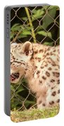 Snow Leopard Cub Portable Battery Charger