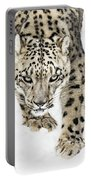 Snow Leopard On The Prowl X Portable Battery Charger