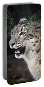 Snow Leopard Portrait Portable Battery Charger