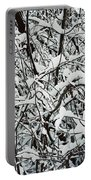 Snow On Branches Portable Battery Charger
