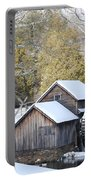 Snow On The Mill Portable Battery Charger