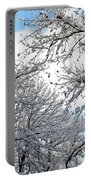 Snow On Trees Portable Battery Charger