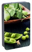 Snow Peas Or Green Peas Still Life Portable Battery Charger
