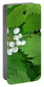 Snow White Berries Portable Battery Charger