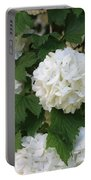 Snowball Tree With Delicate Leaves Portable Battery Charger