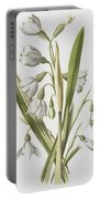 Snowdrop And Snowflake Portable Battery Charger