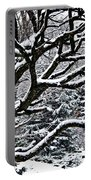 Snowfall And Tree Portable Battery Charger