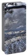 Snowfall Covers Northern Arizona For Christmas Portable Battery Charger