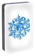 Snowflake Vector - Gardener's Dream White Version Portable Battery Charger
