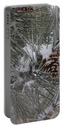 Snowladen Pine. Portable Battery Charger