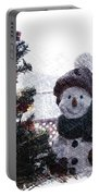 Snowman And Tree Pa Portable Battery Charger