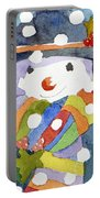Snowman In Snow Portable Battery Charger