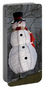 Snowman On The Roof Portable Battery Charger