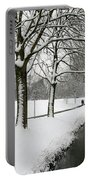 Walking On A Snowy Area Portable Battery Charger