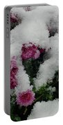 Snowy Chrysanthemums Portable Battery Charger