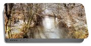 Snowy Creek In Babylon, Long Island Portable Battery Charger