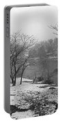 Snowy Day On Redd's Pond And Old Burial Hill Portable Battery Charger