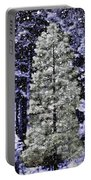 Snowy Day Pine Tree Portable Battery Charger