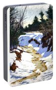 Snowy Ditch Portable Battery Charger