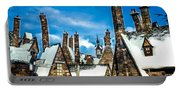 Snowy Hogsmeade Village Rooftops Portable Battery Charger