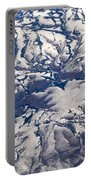Snowy Landscape Aerial Portable Battery Charger